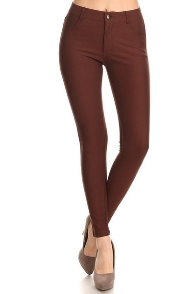 Wine Red Ponte Pants