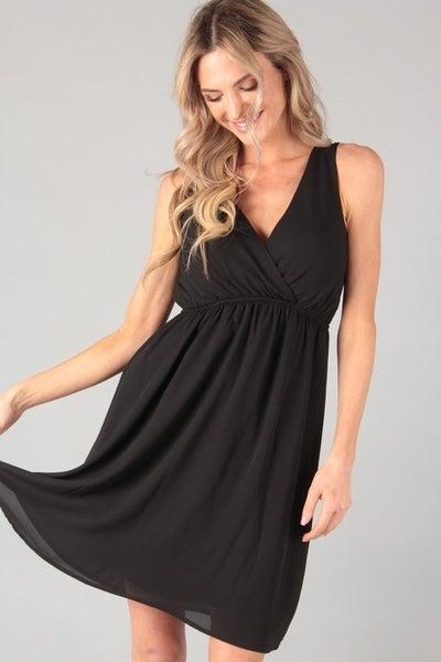 PS Kate Solid Chiffon Dress