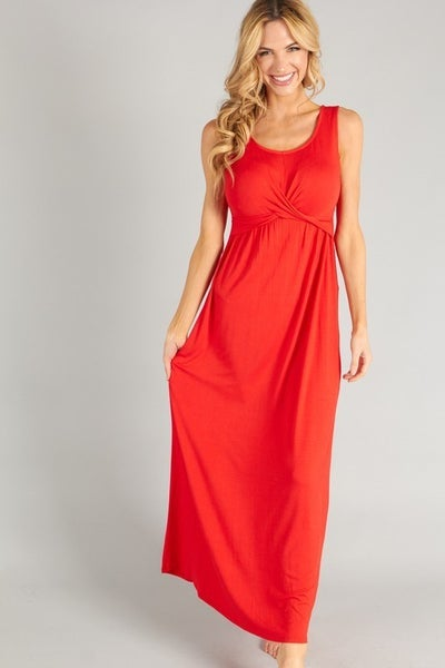 P.S. Kate Red Maxi Dress