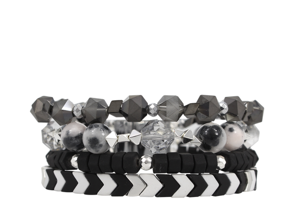 Erimish Black and White Tribal Magnetic Cuff