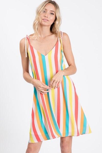 Hopely Summer Breeze V Neck Mini Dress