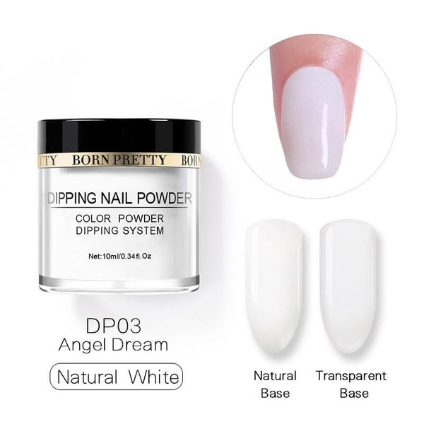 Born Pretty Dipping Nail Powder - Natural White