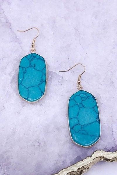 Double Sided Semi Precious Stone Earrings