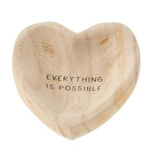 Everything is Possible Wood Trinket Dish