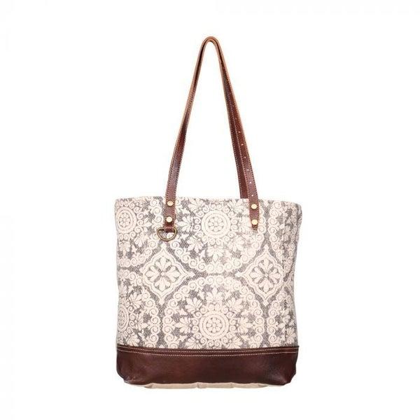 Myra Bag Geometric Tote Bag