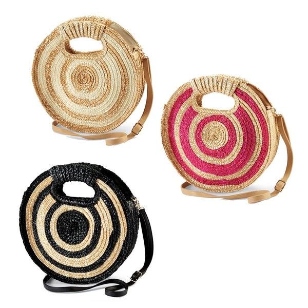Striped Circle Clutch