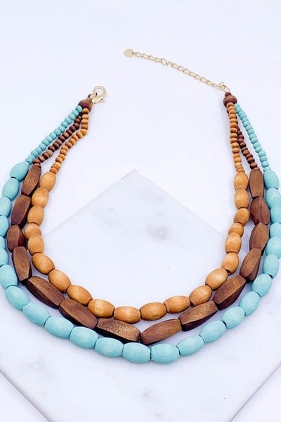 Wood Layered Necklace