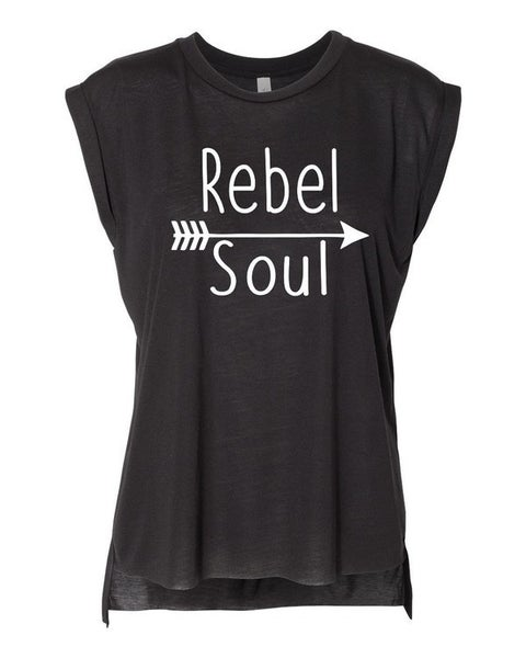 Rebel Soul Graphic Tank in Black