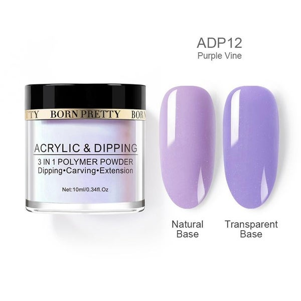 Born Pretty Dipping Nail Powder - Purple Vine