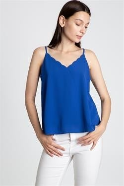 L Love Scallop Detail Cami Top