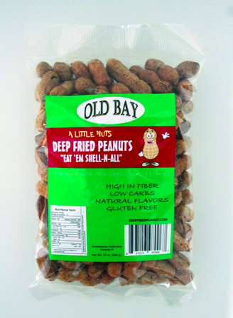 Old Bay Flavored Deep Fried Peanuts