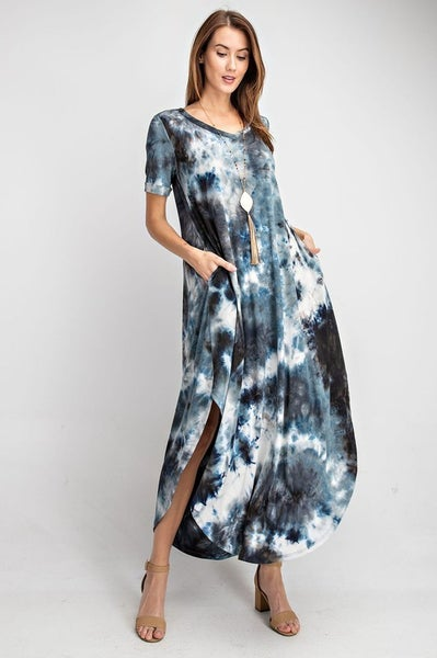 Rae Mode Short Sleeve Tie Dye Maxi Dress