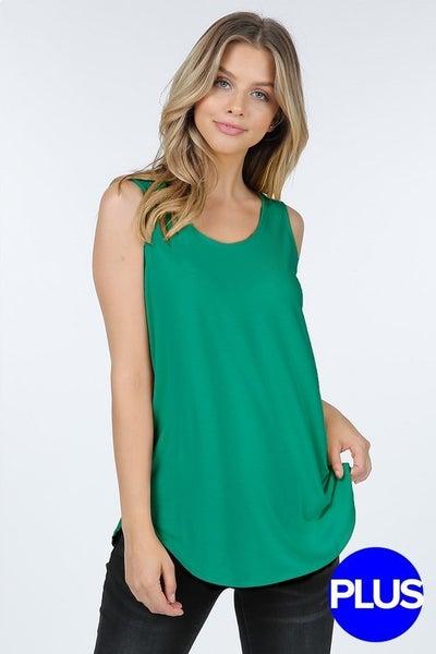 Emerald Round Hem Tank Top