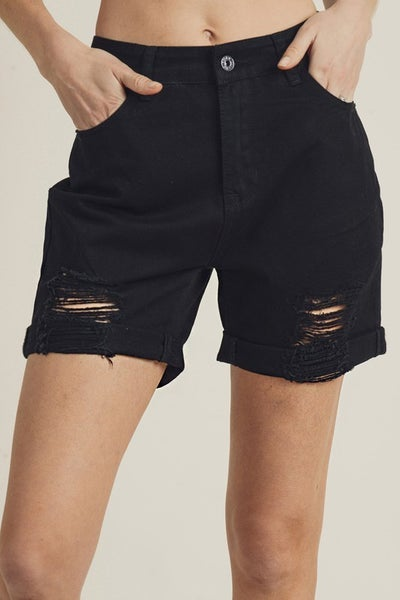 Risen High-Waist Boyfriend Shorts