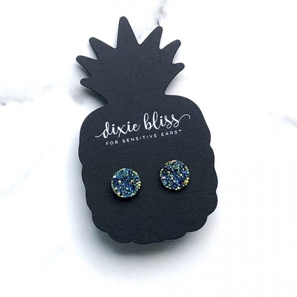 Dixie Bliss Earring Ocean Druzy