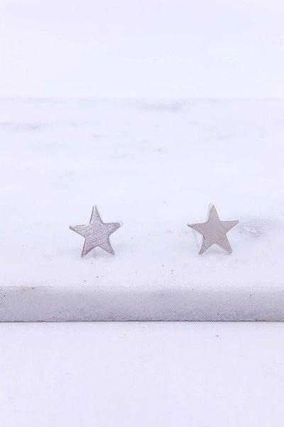 Silver Star Post Earrings
