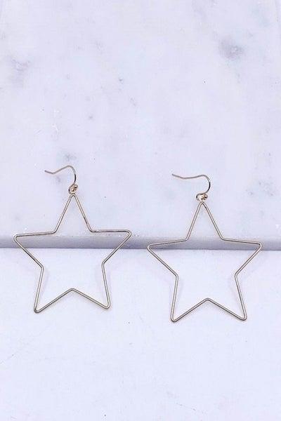 Cut Out Star Drop Earrings