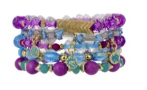 Erimish Violet Bracelet Stack