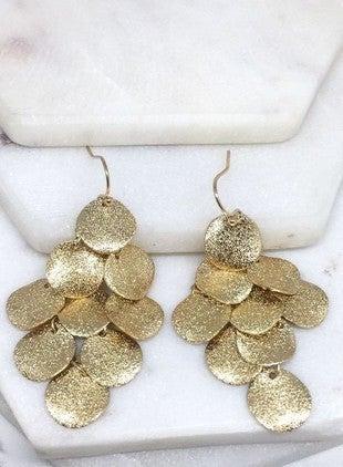 Shimmery Tiered Drop Earrings