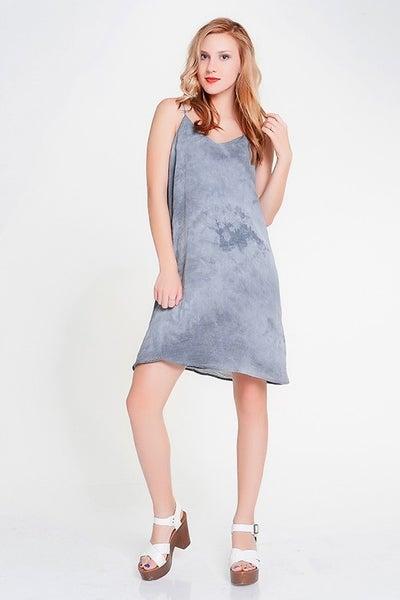 Papermoon Black Tie Dye Slip Dress