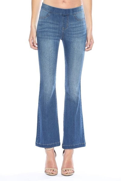 Cello Medium Wash Flared Jeggings 30 inch inseam