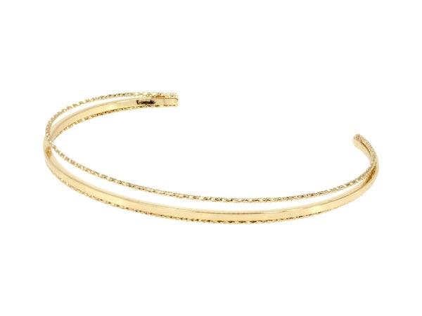 Erimish Barred Cuff Gold