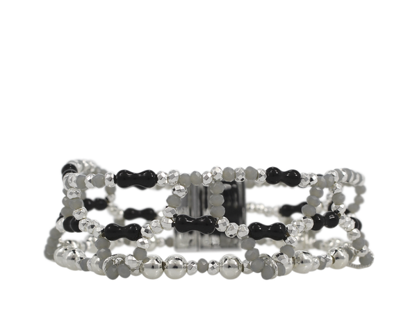 Erimish Flutter Silver Magnetic Cuff