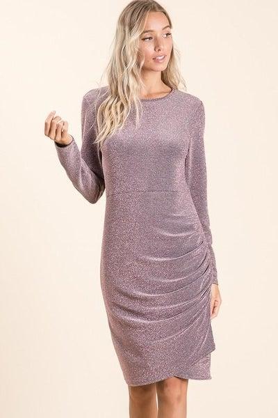 Long Sleeve Glittering Dress