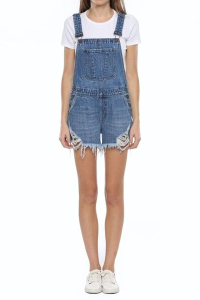 Cello High Rise Boyfriend Short Overall