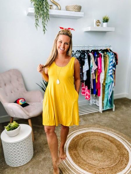 Yelete V Neck with Pockets Dress