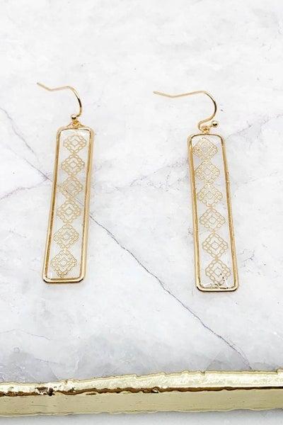 Lucite Bar Drop Earrings