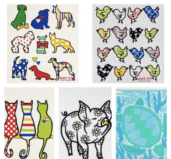 Animal Theme Swedish Cloth