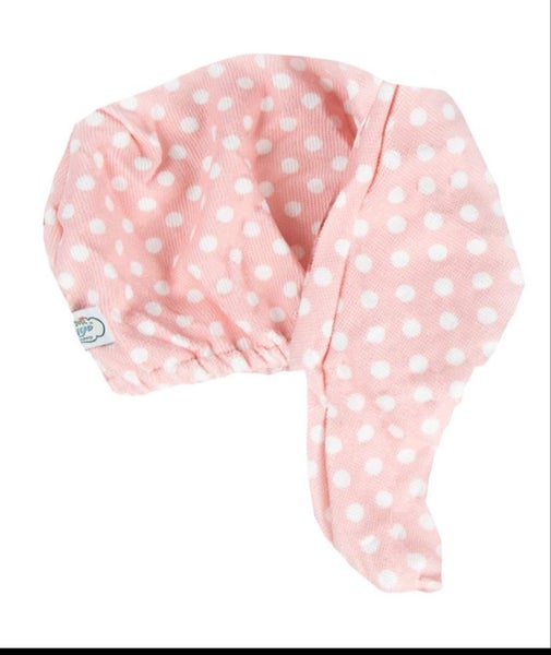 Pink Polka Dot Hair Turban