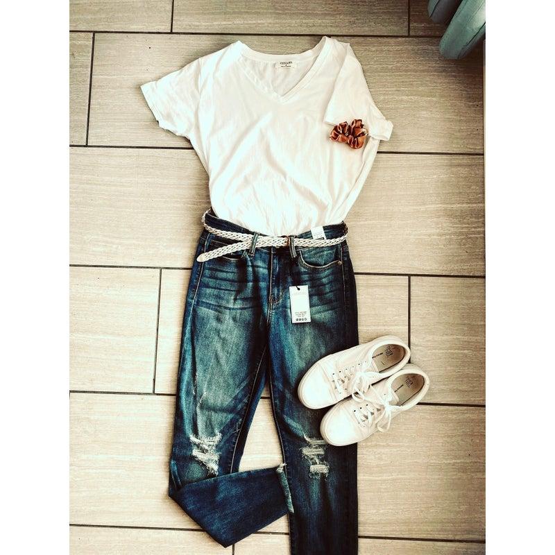 Girlfriend Fray Jeans *Final Sale*