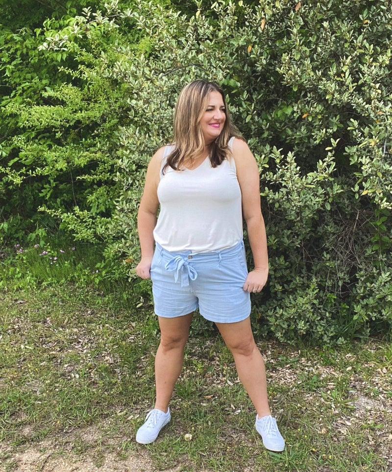 Bonnie Blue Linen Shorts *Final Sale*