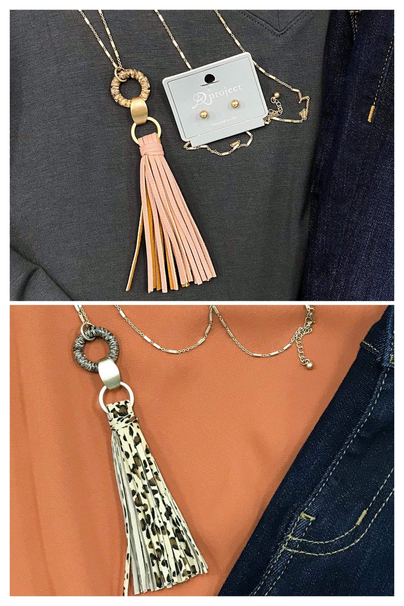 Tassel Ring Pendent Necklaces
