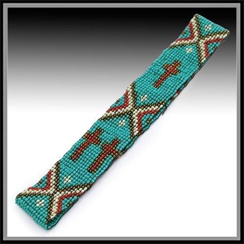 Turquoise Cross Headband