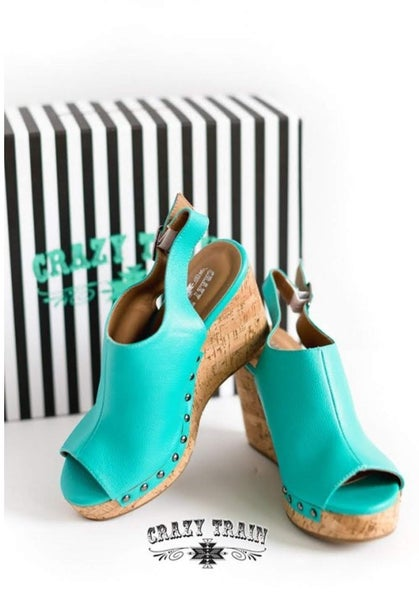 Showdown Wedge**Turquoise