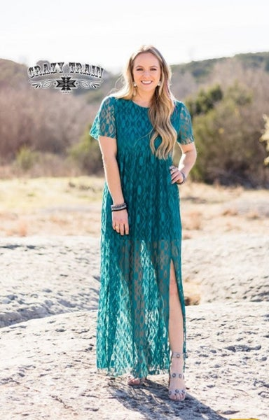 Teal Rayanne Maxi Dress