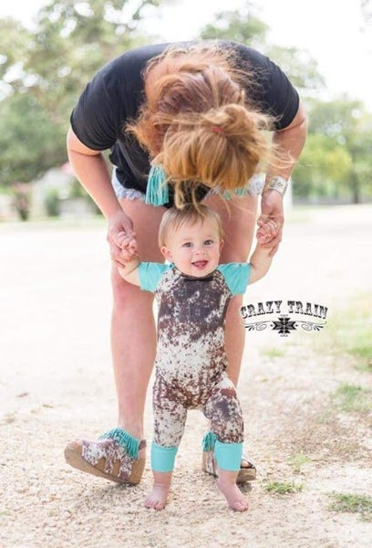 Cowhide Playdate Jumper
