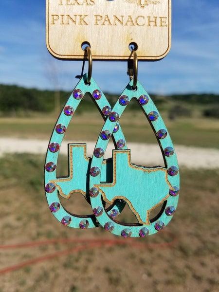 Turquoise Texas**Swarovski Crystals