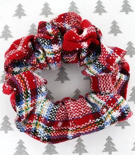 Holly Jolly Christmas Plaid Scrunchie