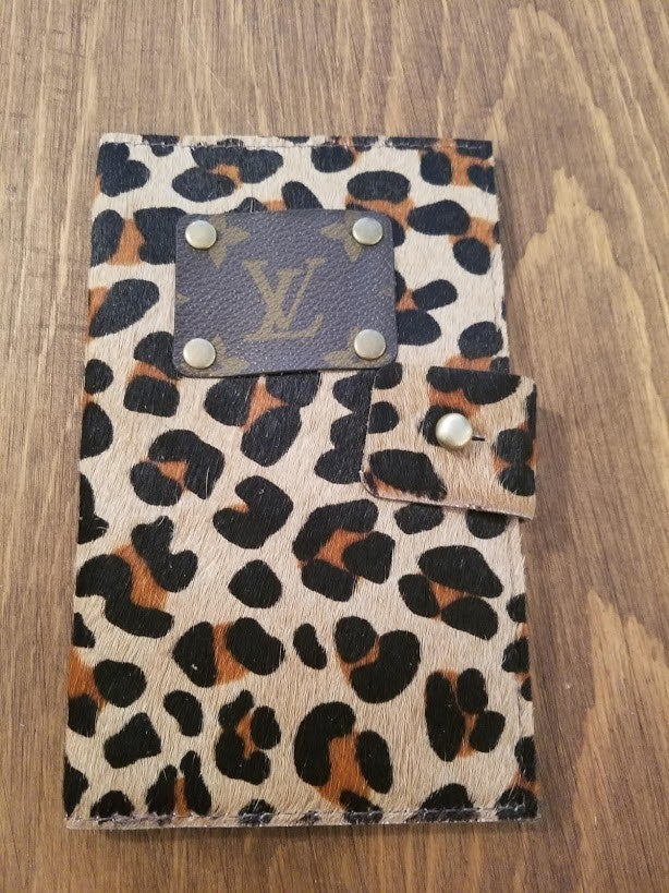 Leopard Ashley Up-Cycled LV Wallet