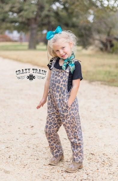 Sassy Pants Overalls**Leopard