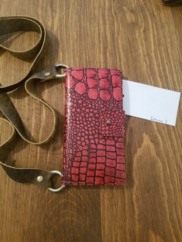 Red Iphone X Crossbody
