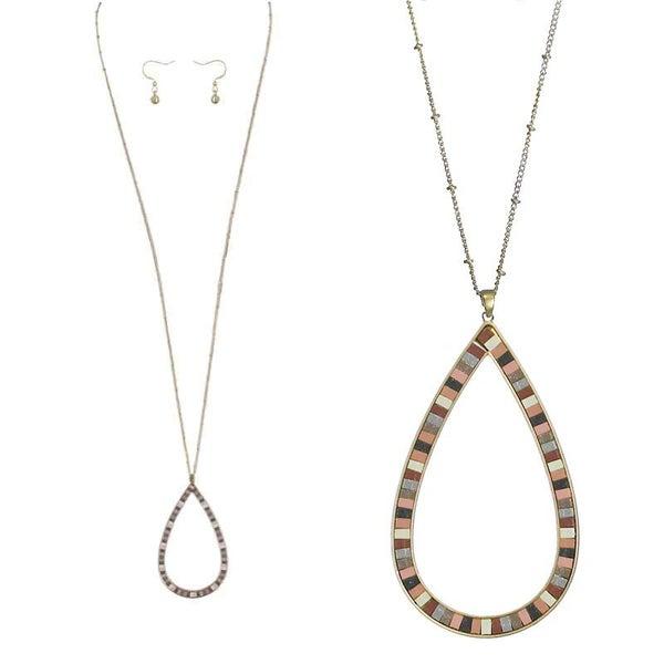 Pink Hoop Necklace