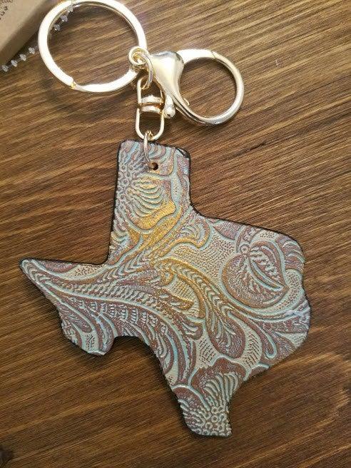 Texas Tooled Keychain