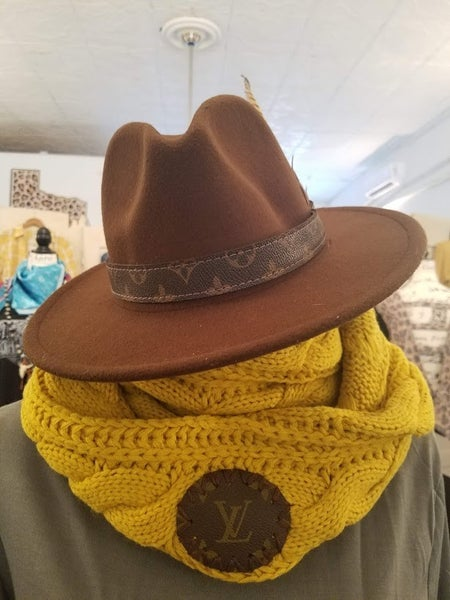 Mustard Up-Cycled LV Scarf