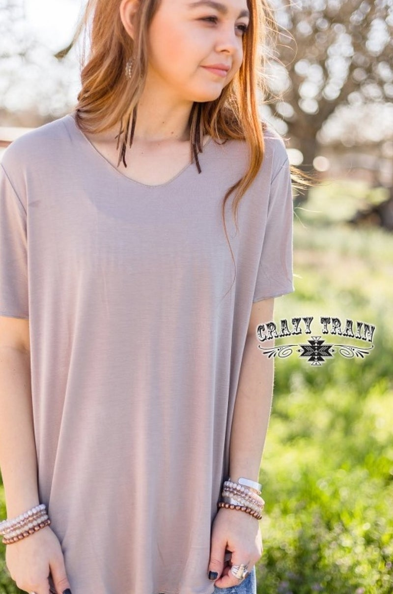 Taupe** Butter Basic Tee
