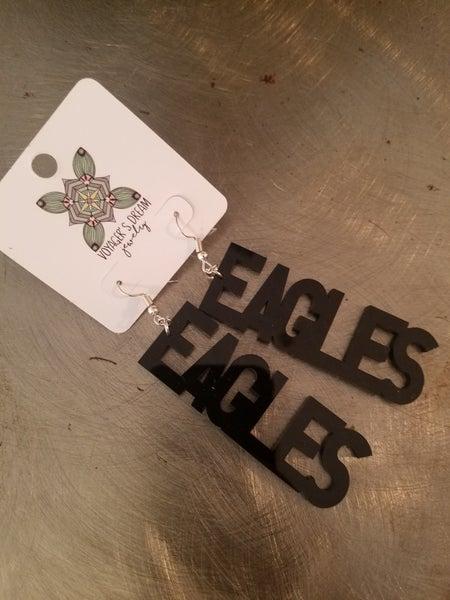 Black Mascot Earrings** Eagles
